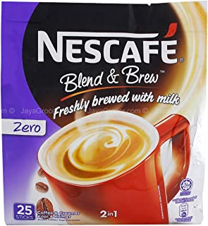 150 Sachets Nescafe Zero Sugar Added (without Sugar) 2 in 1 Instant Coffee (6 pack)