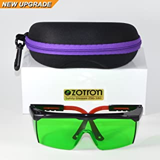 Zotron LED Grow Light Color Correction Safety Glasses with Free Bonus Case for Indoor Gardens, Greenhouses, Hydroponics, Protective Eyewear Against UV, IR Rays, Best for LED Grow Rooms
