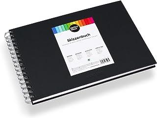 perfect ideaz DIN-A4 Skizzen-Buch 96 Seiten (48 Blatt), professioneller Zeichen-Block,..