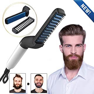 WORD GX  Electric Beard Straightener for Men – Professional Quick Styling Comb for..