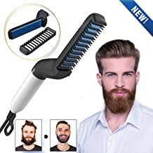 ADTALA Electric Comb for Men, Man's Style Massage Comb, Hair Straightener for Hair and Beard, Adjustable Temperature Comb Multi-functional Electric Hair Tool