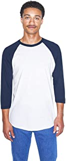 American Apparel Men's 50/50 Raglan 3/4 Sleeve T-Shirt, 2-Pack