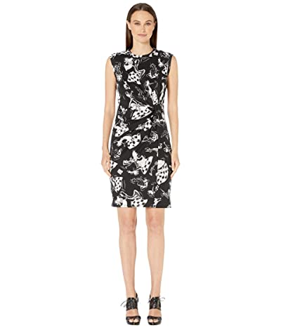 Boutique Moschino Plush Chess Print Sleeveless Dress (Fantasy Print Black) Women