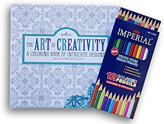 Daisy Crafts Adult Coloring Book Set - The Art of Creativity and Colored Pencils