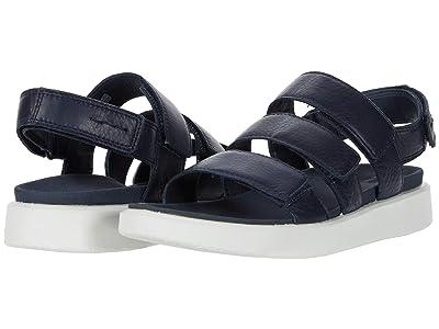 ECCO Flowt 3 Strap Sandal (Marine Cow Leather) Women