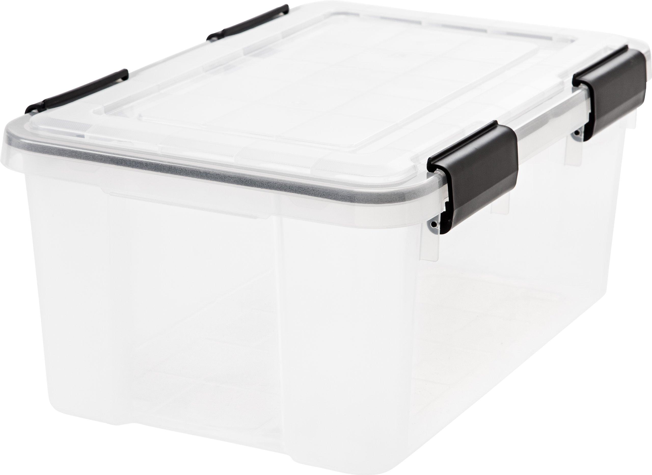IRIS - Caja de almacenamiento hermética, transparente, plástico, transparente, 19 quart: Amazon.es: Hogar
