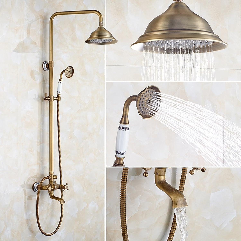 Edge to Dusche Badezimmer Dusche Dusche gesetzt voll Kupfer Hand-Düse Bad Wand-Druck stehende Dusche