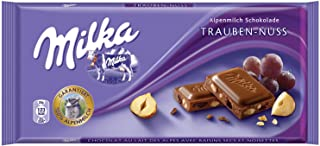 milka chocolate raisins hazelnuts