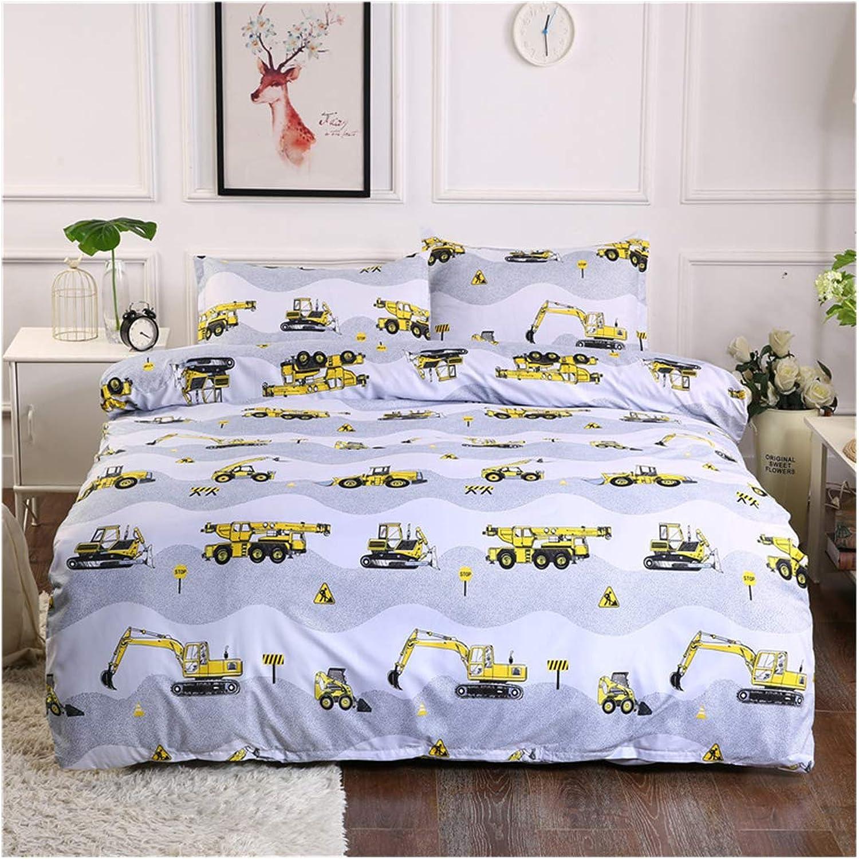 Bed Set Beddingset Duvet Cover Set Duvet Cover No Comforter Two Pillowcases 3pcs Excavator Tools Twin Size Sheets Set for Girls Boys Kids Teens
