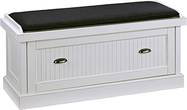 Home Styles 5022 26 Nantucket White Upholstered Bench Distressed