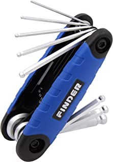 FINDER Portable 8 in 1 Folding Star/Hex Key Set Premium Harden Tempered Vanadium Steel Chromed Finish For Bicycle And Home Appliance Maintenance Repairing