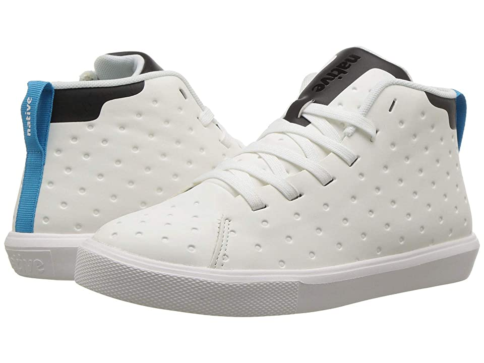 Native Kids Shoes Monaco Mid CT (Little Kid) (Shell White CT/Jiffy Black/Shell White) Kids Shoes