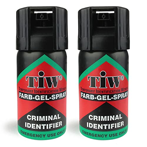 "Farb Gel Mini ""Criminal Identifier"" Self Defence Multi Function Spray (2 Units)"