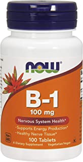 Now Foods Vitamin B-1, 100 mg 100 Tablets