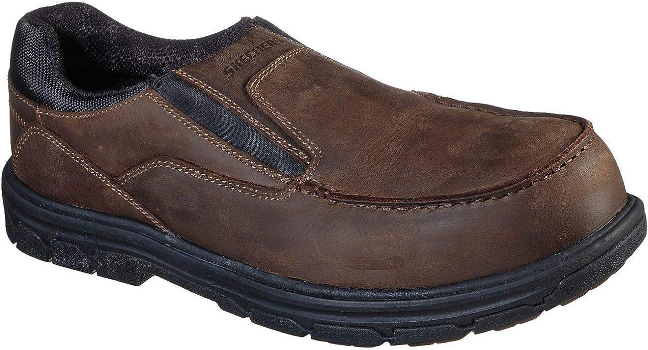 Skechers San Diego Max 58% OFF Mall - Mens Double Gore Slip Shoe Moc W On Toe