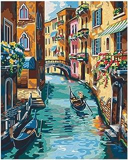 Diy Digital Painting Paint By Numbers Digital Painting Digital Painting European Digital Painting Dream Angel @1472 Water Bridge Town No Inner Frame 40X50
