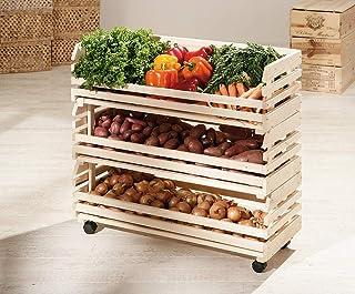 Links 60100450 Etagère Cagettes en Bois empilables pour légumes 79 x 30 x 80 cm