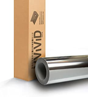 Silver Mirror Chrome Vinyl Wrap Self-Adhesive Film Decal Air-Release Bubble and Air-Free 3Mil-VViViD8 (1 Foot x 5 Feet)