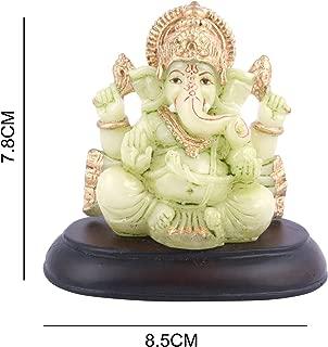 Affaires Radium Glow Ganeshji, Ganesh, Ganpati Murti Idol Statue Sculpture for car/Office Decor, Ideal Gift to Your Loved Ones G-433
