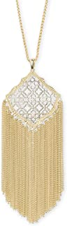Kendra Scott Kingston Gold-Plated Pendant Necklace in Silver-Color Filigree