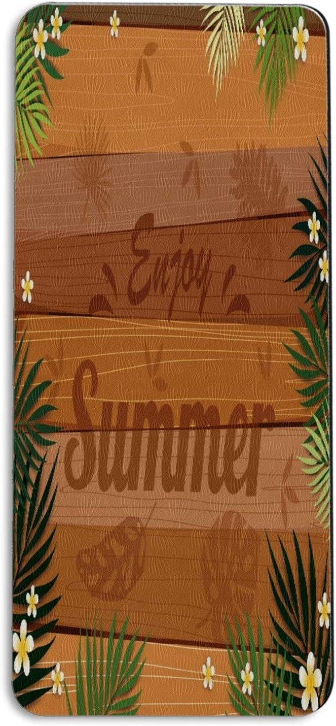 Yoga Mat Banner 2021 Enjoy Safety and trust Summer Little Tropical Florals Palm Workou