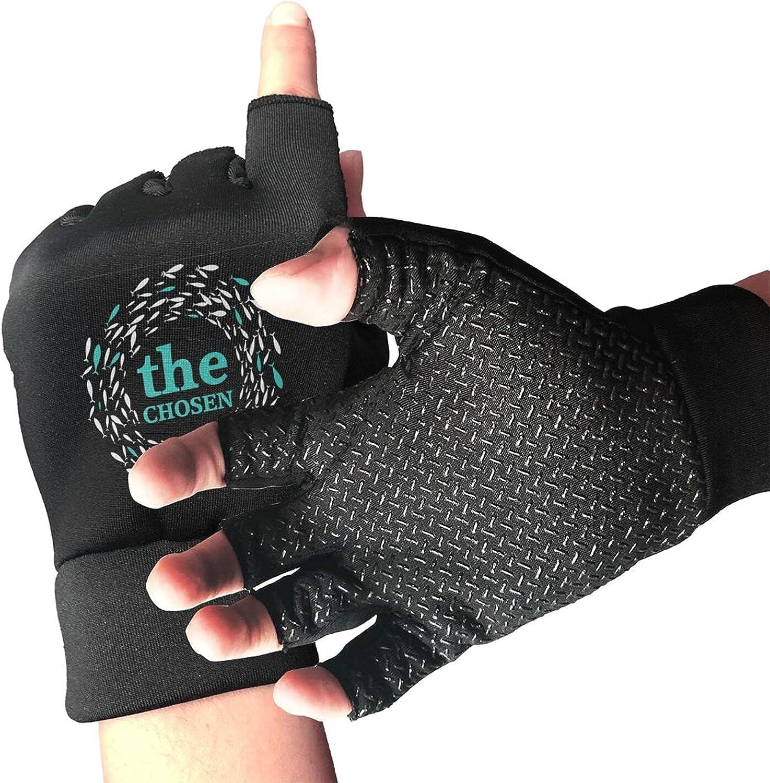 The Chosen Merch Against I Was Born For This Non-Slip Working Gloves Breathable Sunblock Fingerless Gloves For Women Men