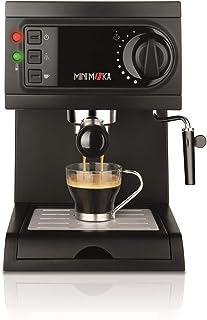 Mini Moka Minimoka CM-1622 Cafetera Espreso 15 Bar / 1050 W / 1,25 L, 5.283441 Cups, Acero Inoxidable, Negro