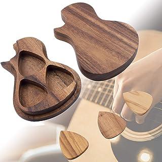 Guitar Pick Holder with 3 Guitar Pick, Wooden Guitar Pick Case Box Custom Guitar Picks, Personalized Guitar Wooden Box Hol...