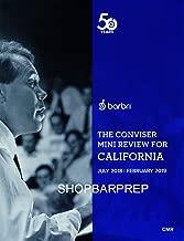 2018 - 2019 Barbri Bar Exam California Conviser Mini Review