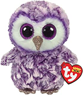 Claire's Official Ty Beanie Boo Soft Toys Plush Stuffed Animal Collectables (Moonlight The Owl)