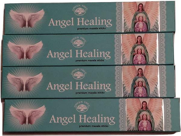 Angel Healing Incense Sticks By Green Tree Multi Packs Four Packs 48 Sticks