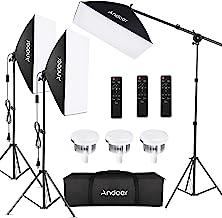"""کیت نورپردازی عکاسی Softbox Softo Studio تجهیزات استودیوی حرفه ای با 20 """"x28"""" Softbox ، 2800-5700K 85W لامپ دمای رنگی دو رنگ با از راه دور ، پایه روشن ، بازوی بوم برای عکسبرداری محصول پرتره"""