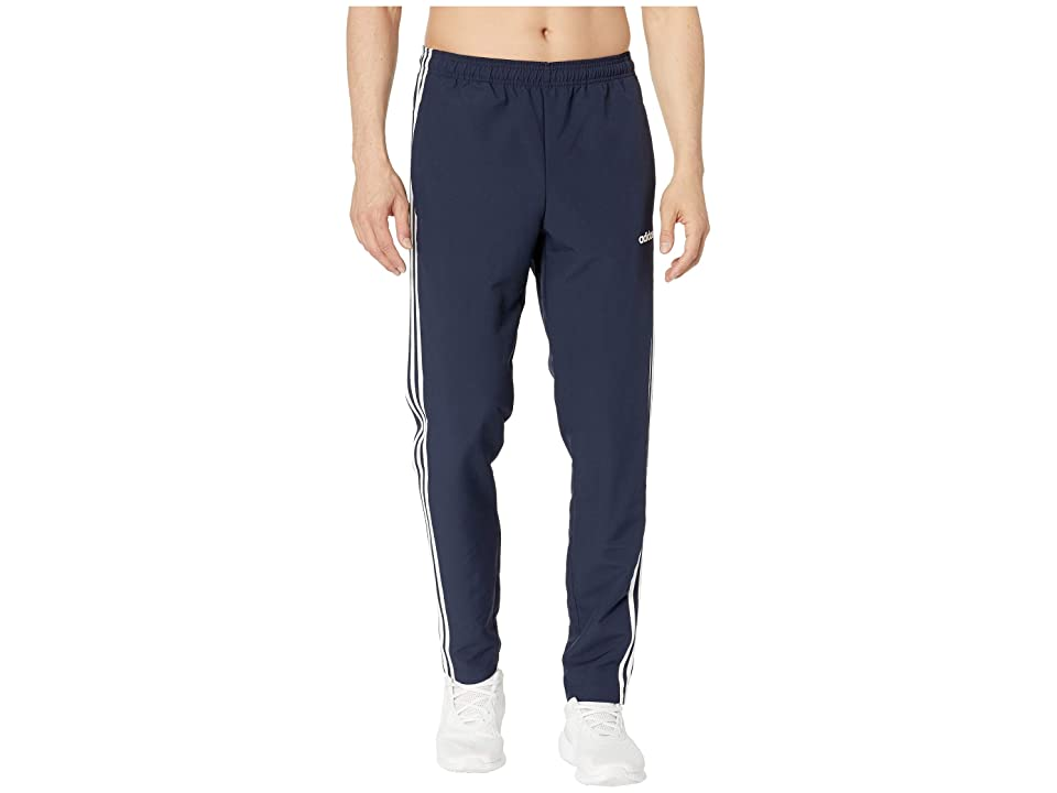adidas Essential 3-Stripe Woven Open Hem Pants (Legend Ink/White) Men