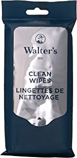 Walter's Shoe Care Clean Wipes Shoe Accessory, Navy Blue, 15 wipes