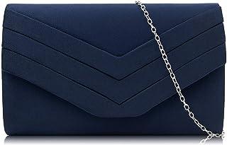 Milisente Clutch Purses Crossbody Shoulder Handbags for Women, Velvet Envelope Evening Clutch Bag