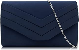Evening Bag for Women, Suede Envelope Evening Purses Crossbody Shoulder Clutch Bag
