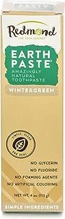 REDMOND - Earthpaste All Natural Non-Fluoride Vegan Organic Non GMO Real Ingredients Toothpaste, Wintergreen, 4 Ounce Tube