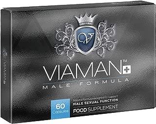 Viaman Plus - Fórmula Natural Para El Rendimiento Masculino - Disfruta De Relaciones Íntimas Más Duraderas E Intensas - 800mg 60 Cápsulas Para 1 Mes