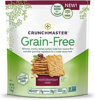 Crunchmaster Grain-Free Crackers, Gluten Free, Non GMO Mediterranean Herb, 3.54 Ounce