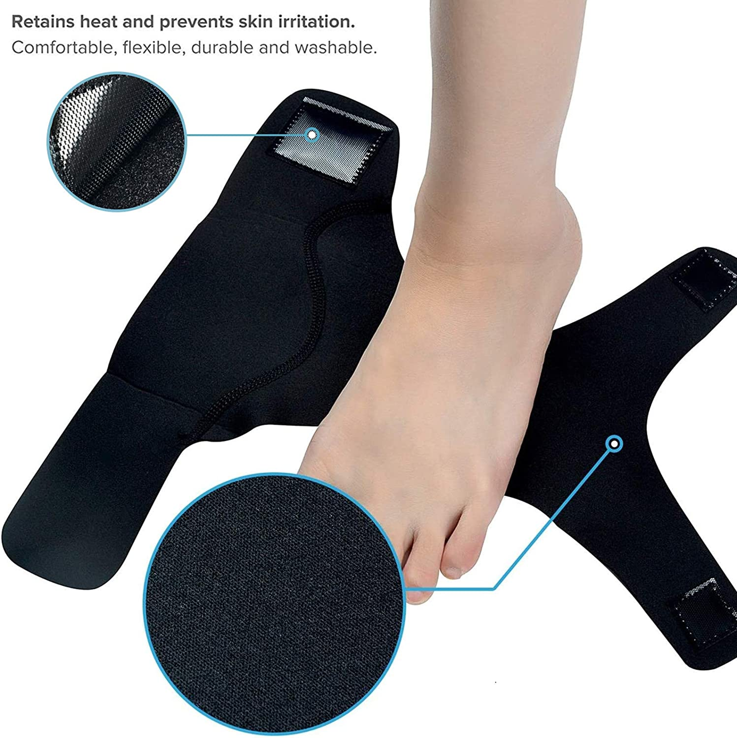 Ankle Brace Medium Protective Gear Ankle Guards Sodeno Ankle Guards Professional Foot Sleeve Pair Prevent Re-Injury 1 Pair Boots Circulation