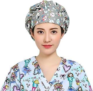 TENDYCOCO 1Pc Berretto da Donna Regolabile Felpa con Cappuccio in Cotone Regolabile da Medico in Cotone per Sala Operatoria per Uso Quotidiano