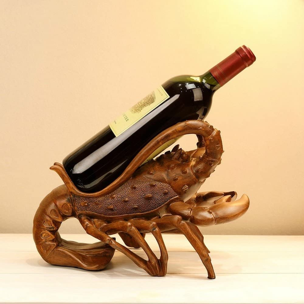 GAIXIA Lobster Shape Personality Creative Resin 30 Sale Special Price Memphis Mall Wine Rack X 2