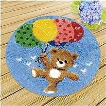 Borduurwerk Knooptapijt Kits for volwassenen Grote Knooptapijt complete Cushion Cover Kit DIY Knooptapijt Kit Rug knutsele...