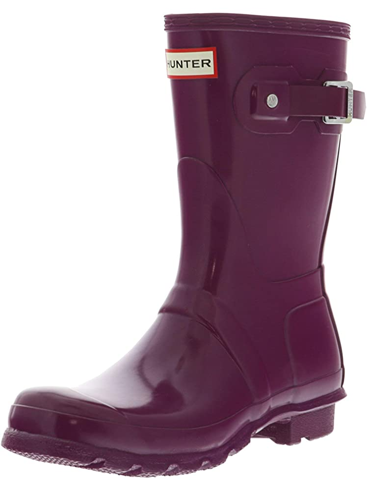 結婚した耕す衝突する[ハンター] Women's Original Short Violet Mid-Calf Rubber Rain Boot - 7M