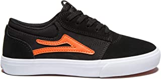 Lakai Footwear Griffin Kids Black/Orange Suedesize 1 Tennis Shoe