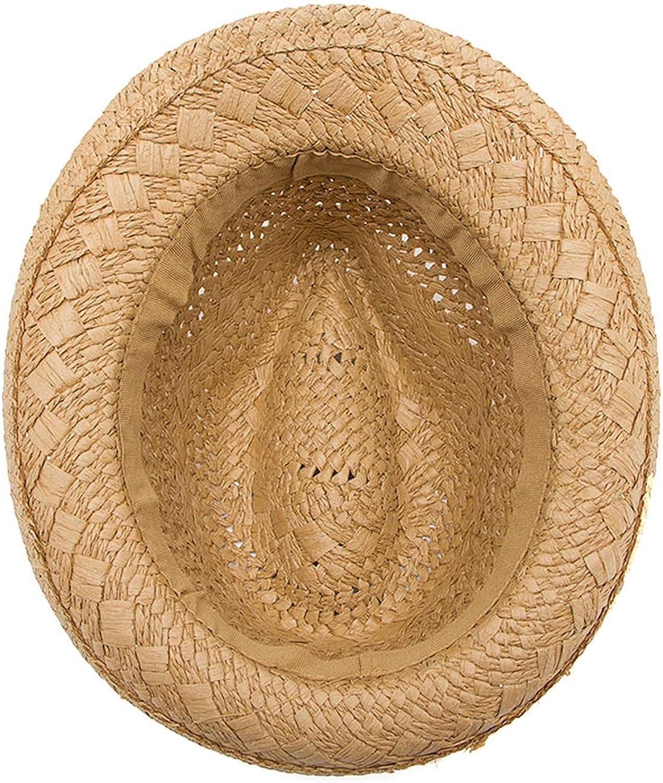 Child Summer Straw Sun hat Boy Boho Beach Fedora hat Sunhat Trilby Girl Panama Hat Gangster Cap with 100/%
