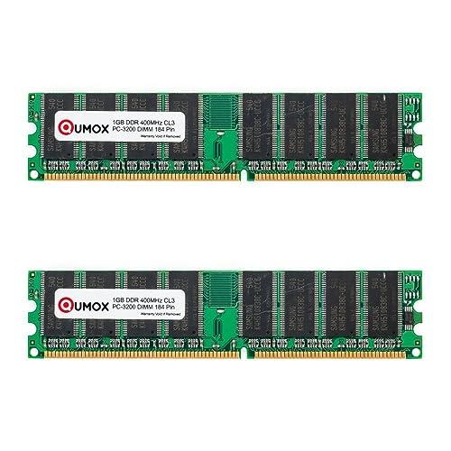 QUMOX Memoria DDR DIMM 2GB(2 x 1GB) 400Mhz PC3200 (184PIN) para