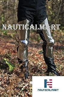 NAUTICALMART Medieval Leg Guard Armor Steel 14th Century Costume