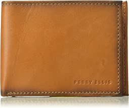 Rfid Burnished Bifold Wallet