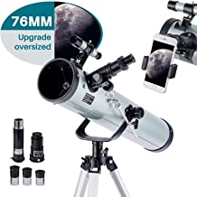 Telescope for Adults & Kids Monocular Refractor Telescope for Astronomy Beginners Professional 700mm76mm with Tripod & Sma...